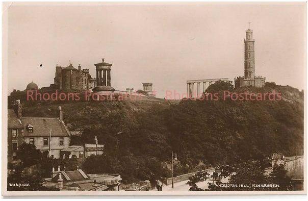 Scotland: Calton Hill, Edinburgh. Circa 1930s Valentines Postcard