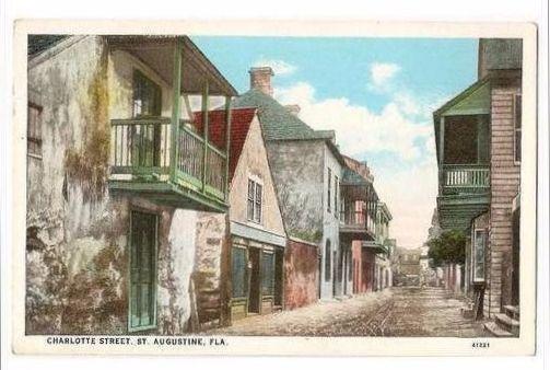 USA: Florida. Charlotte Street, St Augustine, Florida, USA. Early 1900s Streetview Postcard