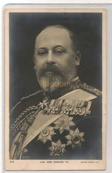 H M King Edward VII, British Family / Royalty. Early 1900s RPPC