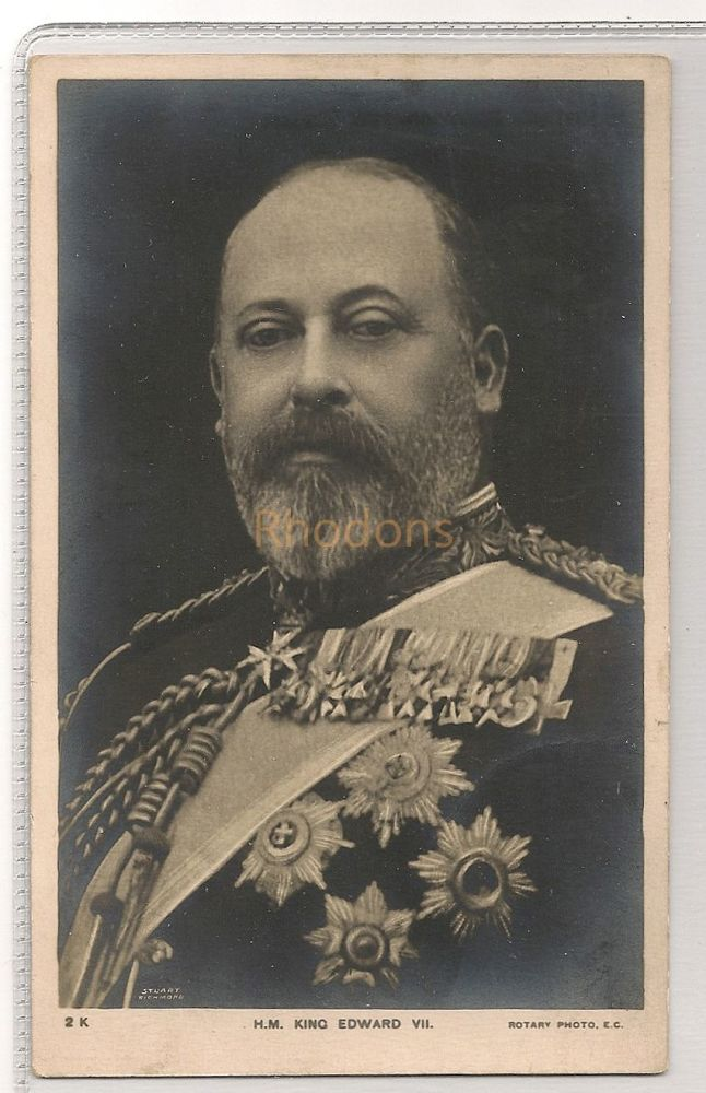 H M King Edward VII, British Family / Royalty. Early 1900s Photo Postcard