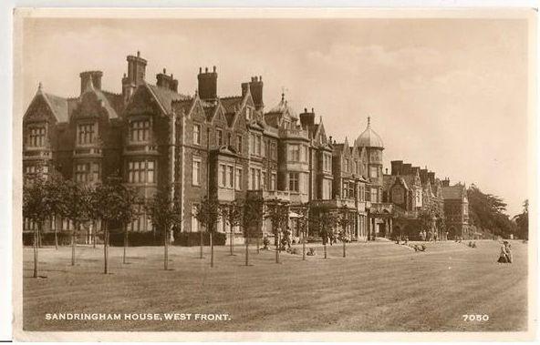 England: Norfolk. Sandringham House, Norfolk, West Front View. 1950s