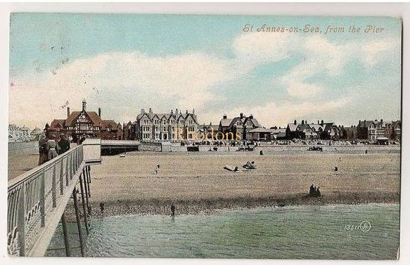 Lancashire: St Annes on Sea, Lancashire. View From The Pier. Early 1900s Po