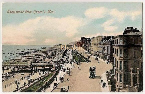 Sussex: Eastbourne. View From Queens Hotel. Early 1900s Postcard