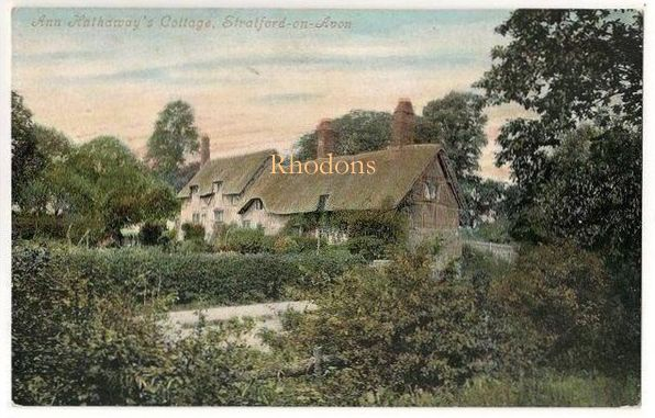 England: Warwickshire. Ann Hathaways Cottage, Stratford On Avon- Early 1900s  Valentines Postcard.