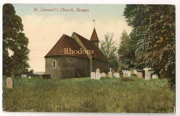 England: Hertfordshire. St Leonards Church Bengeo, Valentines, Early 1900s Postcard
