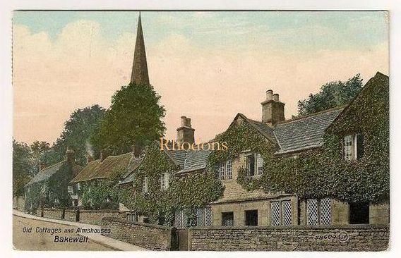 England: Derbyshire. Old Cottages & Almshouses Bakewell, Valentines, Early 1900s