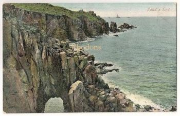 England: Cornwall. Lands End. Valentines Series Early 1900s Postcard