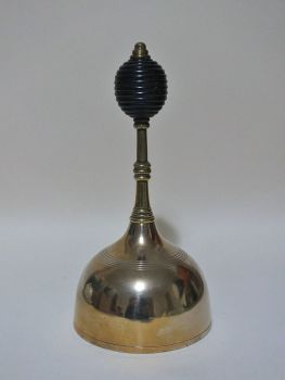 Brass Hand Bell With Turned Wood Handle