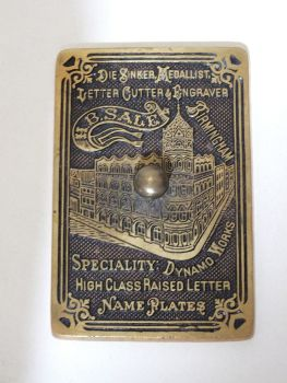 Brass Paperweight, Vintage Advertising, Early 1900s