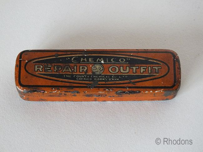 Chemico Cycle Repair Outfit Tin. Early 1900s