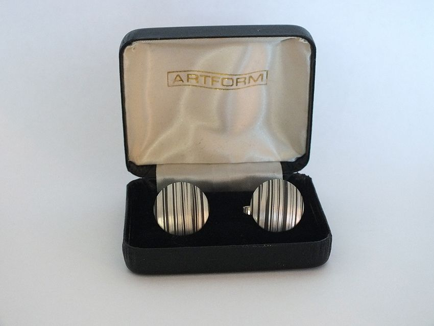 Cufflinks, Boxed Set Of Mens Cuff Links By Artform