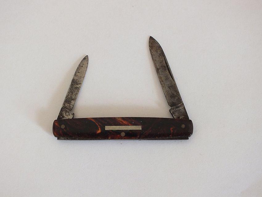 Faux Tortoiseshell 2 Blade Penknife