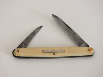 Old Penknife With Twin Folding Blades. Early / Mid 20th Century