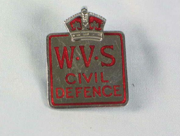 WVS Civil Defence Home Guard Badge, WWII