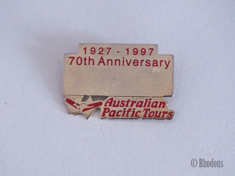 Australian Pacific Tours 70th Anniversary 1927-1997 Badge