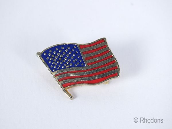 USA Flag Patriotic Lapel Badge, Stars and Stripes