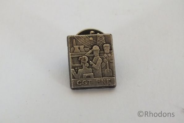 French Trade Unions Badge - CGT FNE - Mines and Energy Lapel Pin Badge