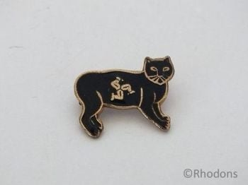 Manx Black Cat Badge, Isle Of Man