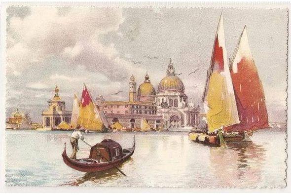 Italy, Venice, Chiesa della Salute, 1930s Postcard