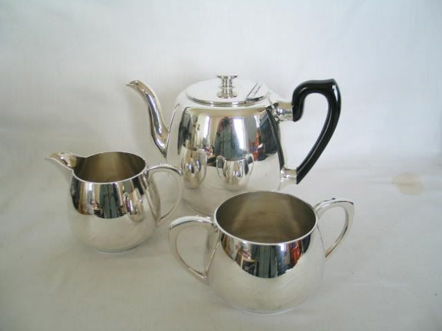 3 Piece Silverplate / EPBM Tea Set. Early / Mid 1900s