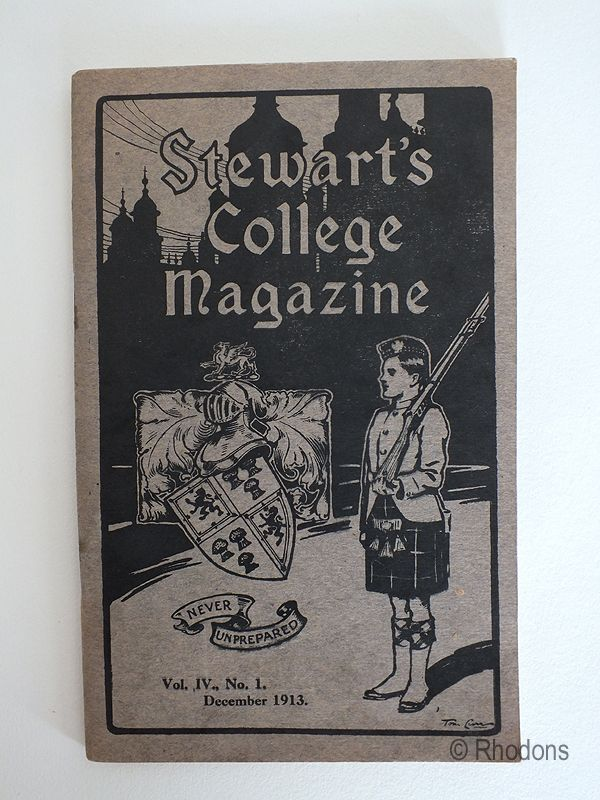 Stewarts College Edinburgh Magazine, December 1913 issue. Volume IV No 1 December 1913.