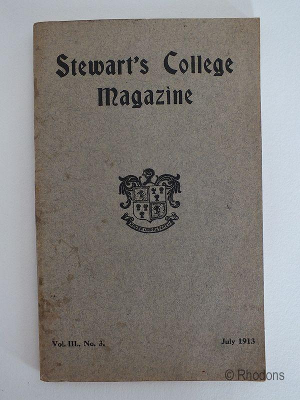 Stewarts College Magazine, July 1913