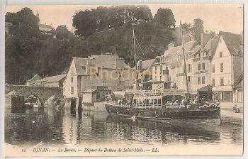 France: Dinan, La Rance, Depart Du Bateau De Saint Malo (LL)