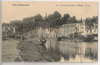 France: Cote D'Emeraude. Les Bord de la Rance, Dinan, Le Port. Early 1900s Postcard