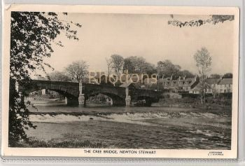 Scotland: Dumfriesshire. The Cree Bridge, Newton Stewart. 1960s Real Photo Postcard