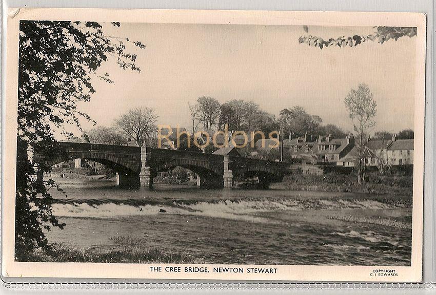 Scotland: Dumfriesshire. The Cree Bridge, Newton Stewart. 1960s Real Photo Postcard