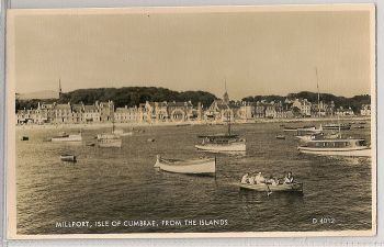 Scotland: Millport, Isle Of Cumbrae From The Islands 1960s Real Photo