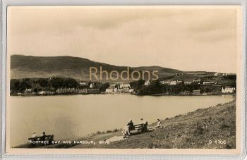 Scotland: Isle Of Skye, Portree Bay And Harbour. 1950s RPPC