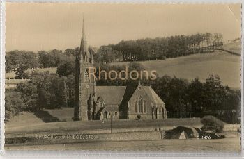 Scotland: Church And Bridge At Stow, Midlothian.1960s Valentines RPPC