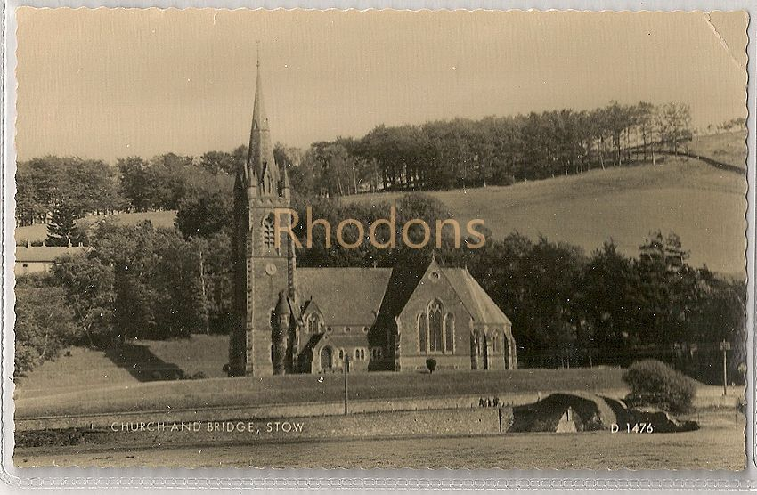 Scotland: Church And Bridge At Stow, Midlothian.Circa 1960s Valentines Postcard
