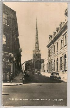 England: Hampshire, Hants. The Parish Church Of St Michaels, Southampton. 1960s Real Photo