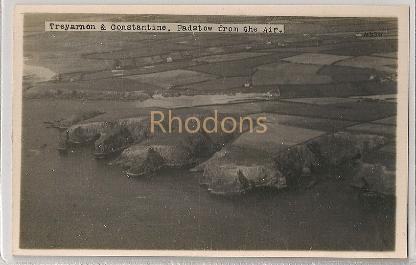 England: Cornwall. Treyarnon & Constantine Padstow From The Air. Aerial Real Photo Postcard