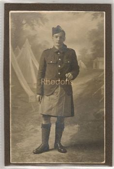 WWI Scottish Soldier In Uniform, Kilt (Lot #1)