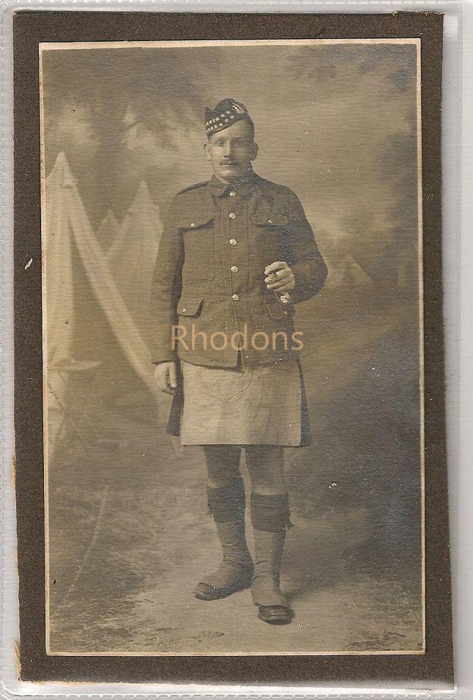WWI Scottish Soldier In Uniform, Kilt (Lot #2)