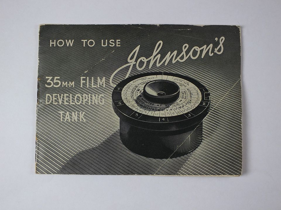 Johnsons 35mmm Film Developing Tank, How To Use Instruction Manual Guide