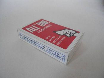 Waddington Playing Cards Advertising All in One for Dogs, Circa 1960s,1970s