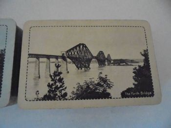 L.N.E.R. Forth Bridge, Waddington Monochrome Playing Cards, 2 Packs, Circa 1930s
