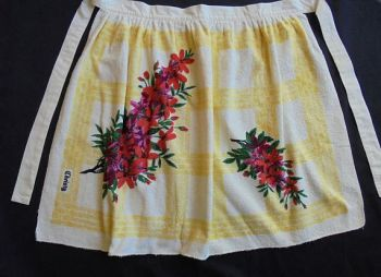 Christy Terry Towelling Apron, Circa 1960s