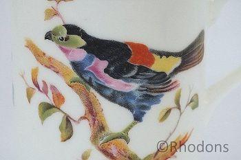 Royal Doulton Coffee Cup & Saucer, Exotic Bird Design (Lot #2)