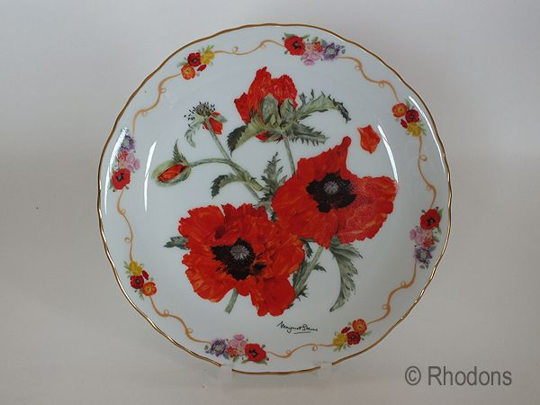 Royal British Legion Collectors Plate, Oriental Poppy In Flanders Fields, M Stevens Limited Edition # 9572 A