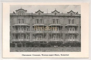 England: Somerset. Legion House (Royal British Legion), Claremont Crescent, Weston Super Mare, Somerset
