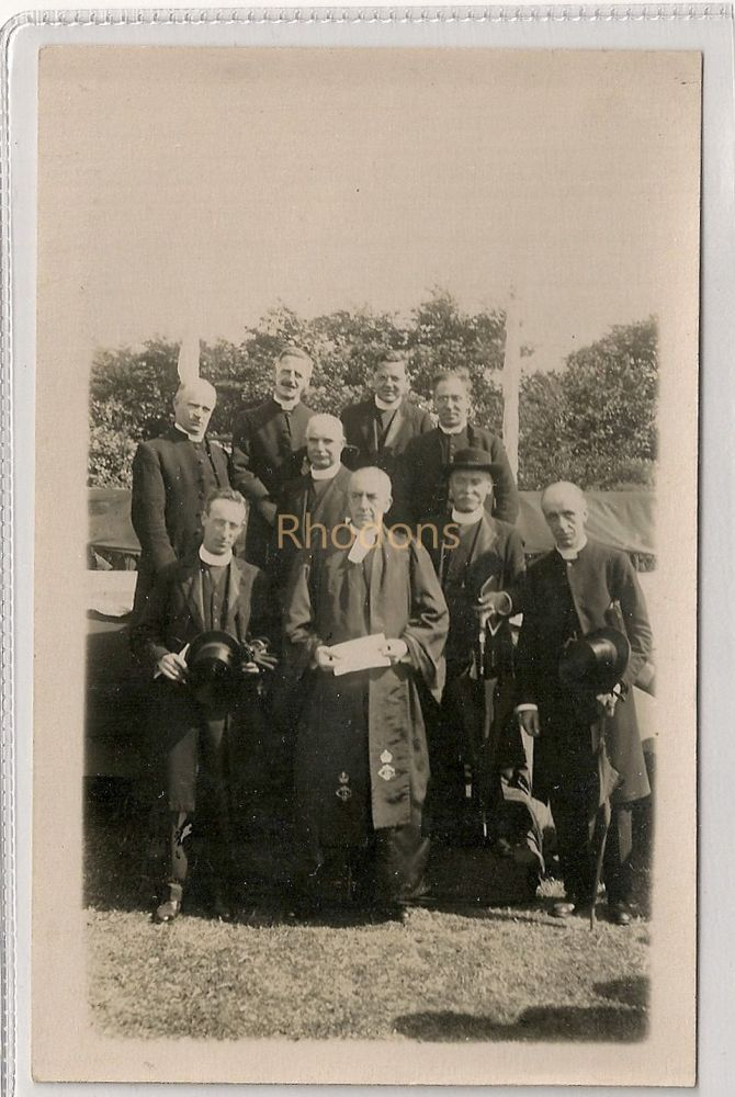 Scottish Clergymen, Vicars, Ministers. Group Photo Postcard, Rutherglen?