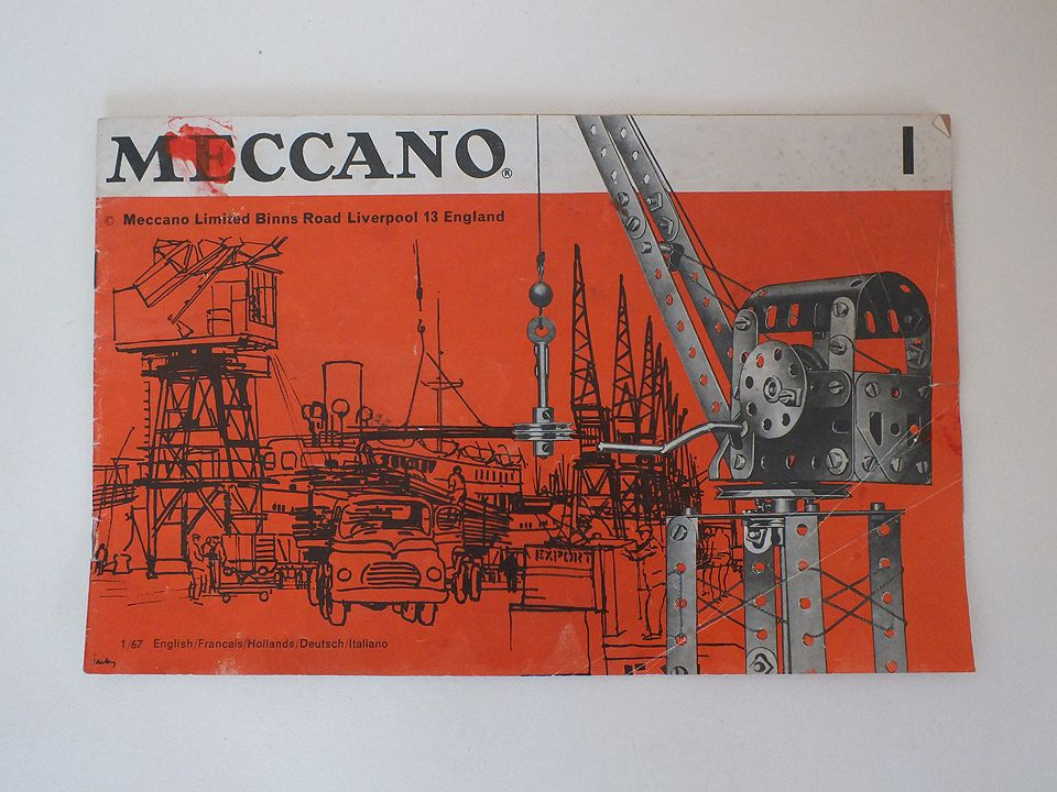 Vintage Meccano Instructions Manual Booklet For No 1 Outfit