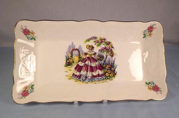 Crinoline Lady Sandwich Plate