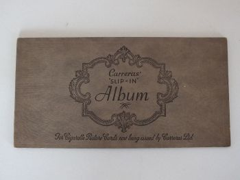 Carreras Slip In Cigarette Cards Album (Empty). Circa 1930s
