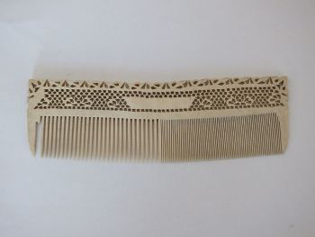 Antique Bone Comb. 19th Century